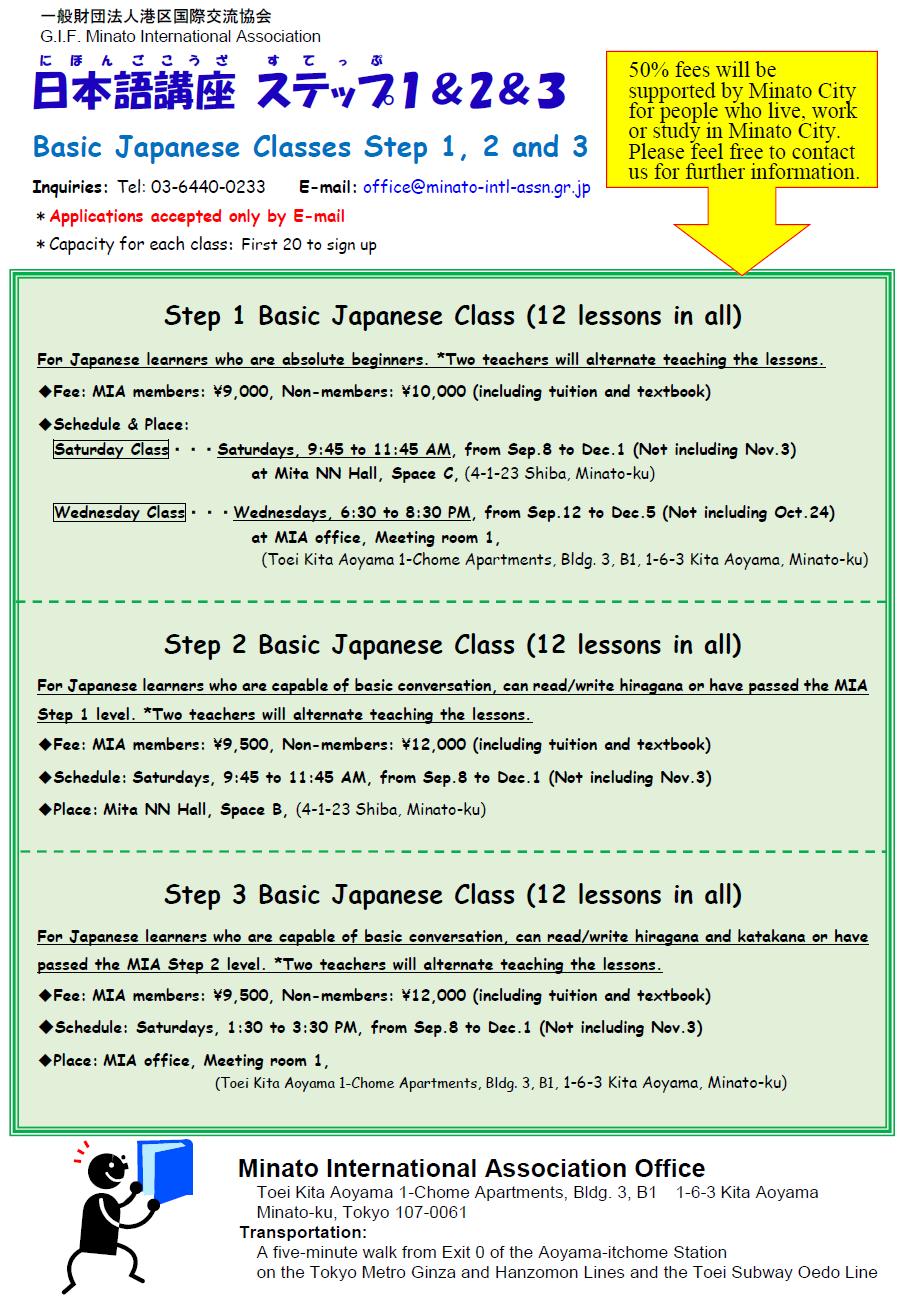 Japanese Language Courseminato International Association